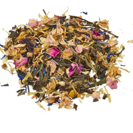 white tea enchanted garden