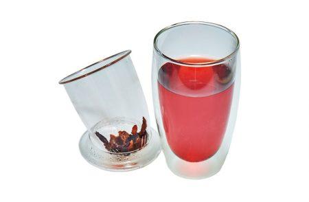 glass tea mug with infuser